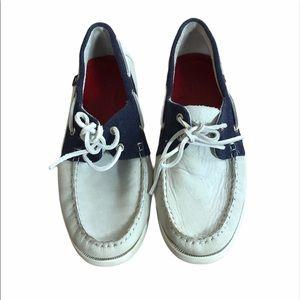 Hackett London men's boat shoes 10